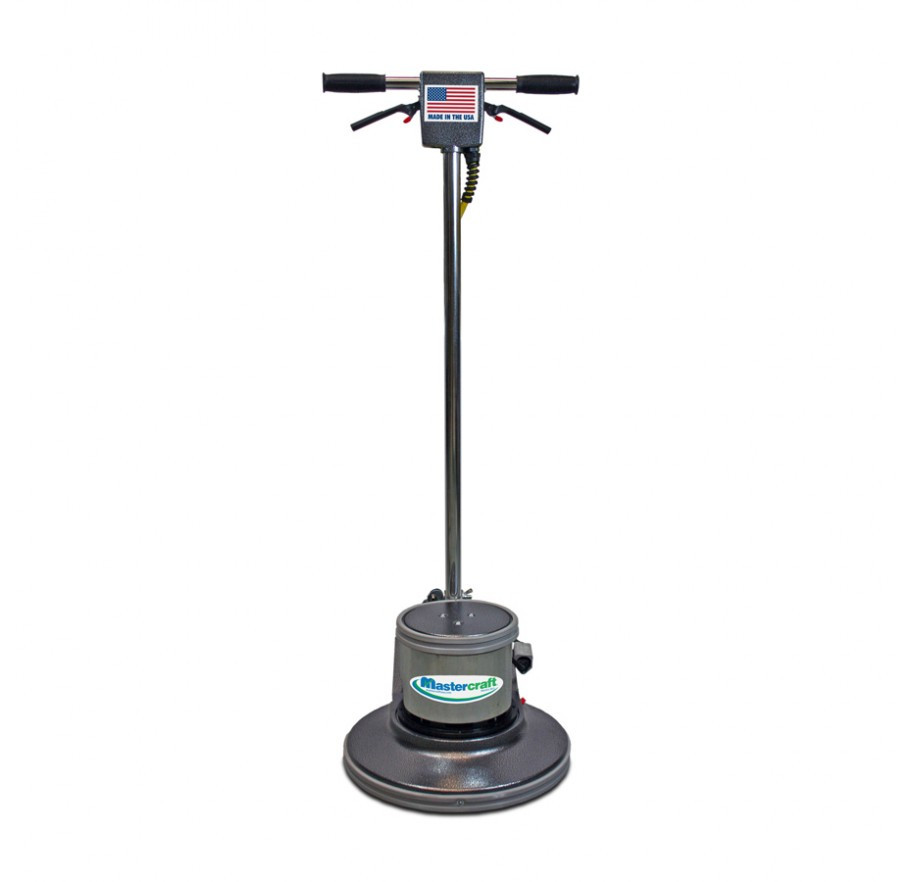 Mastercraft 20 inch electric powered rotary floor scrubber for Scrubbing concrete floors