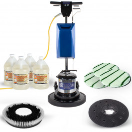 Carpet Scrubbing Floor Buffer Package with Brush & Bonnets
