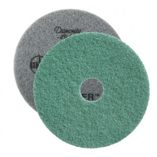"Green Twister™ Diamond Concrete Prep Pads - 3000 Grit - Round (10"" - 28"")"