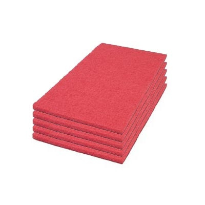 Red Buffing Square Scrub Pads