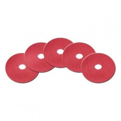 20 inch Red Light Duty Floor Scrub Pads