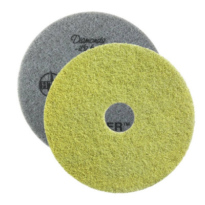 "Yellow Twister™ Diamond Concrete Prep Pads - 1500 Grit - Round (10"" - 28"")"