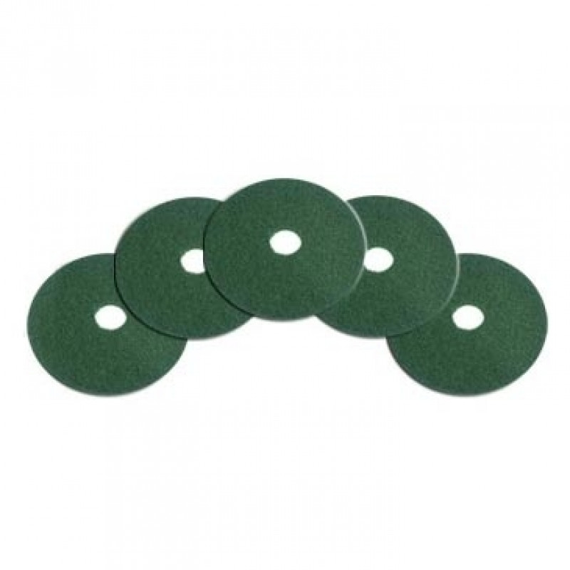 10 Inch Green Heavy Duty Floor Scrubbing Pads Case Of 5