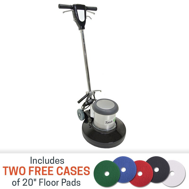 20 Inch Task Pro Floor Buffing Machine W Floor Care Pads