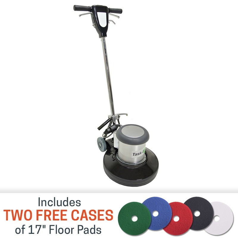 17 Inch Floor Buffer Machine By Task Pro W Floor Pads