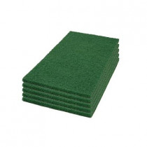 Case of 12 x 18 Green Square Scrub Pads