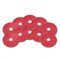 6.5 inch Red Floor Buffing/Scrubbing Pad