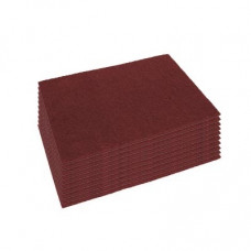 Case of 14 x 28 inch Eco-Prep Maroon Dry Stripping Pads